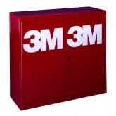 Gaveta organizadora metalica roja de 3M