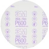 Disco en Lámina para Acabados Hookit de 3M, 6 pulgadas, grano P600