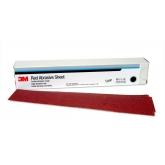 Tira Abrasiva Roja Hookit de 3M, grano 180, 2 3/4 pulgadas X 16 1/2 pulgadas